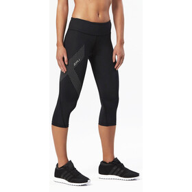 2XU Mid-Rise Compression Leggings 3/4 Femme, black/dotted reflective logo